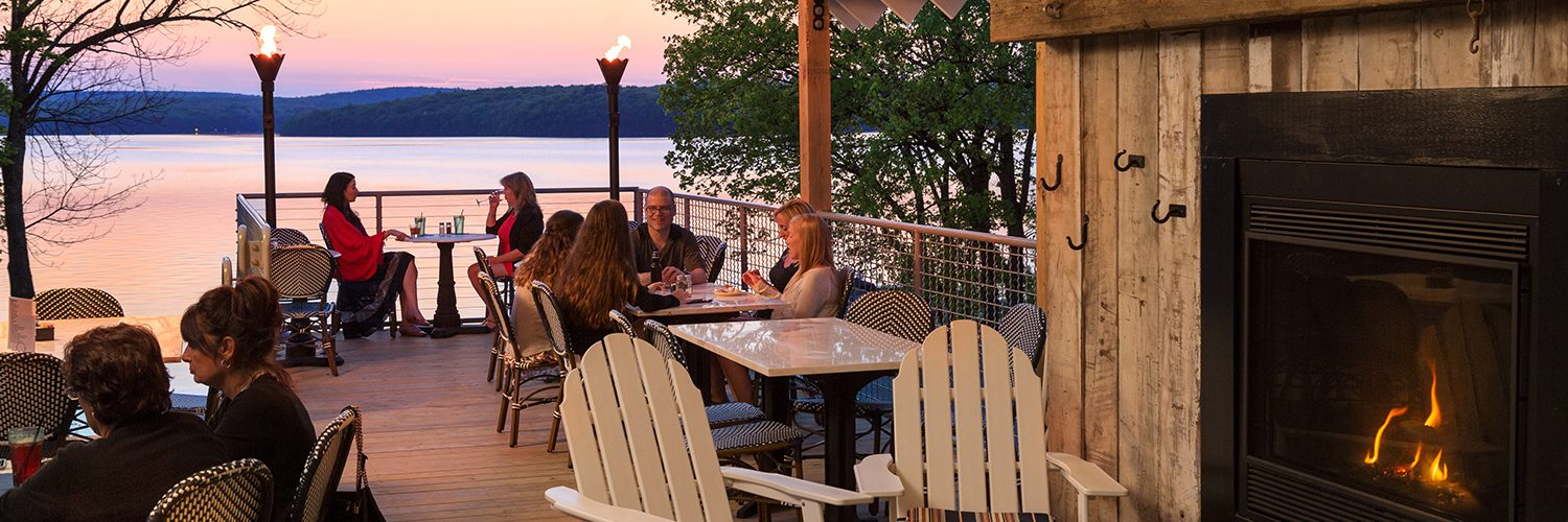 Outdoor Deck at the Dock on Wallenpaupack