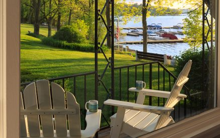 SilverBirches-Lake Wallenpaupack Vacation House Rental View from the deck